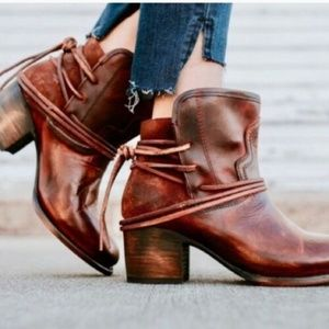 Freebird Steven Casey Brown Leather Ankle Bootie 8